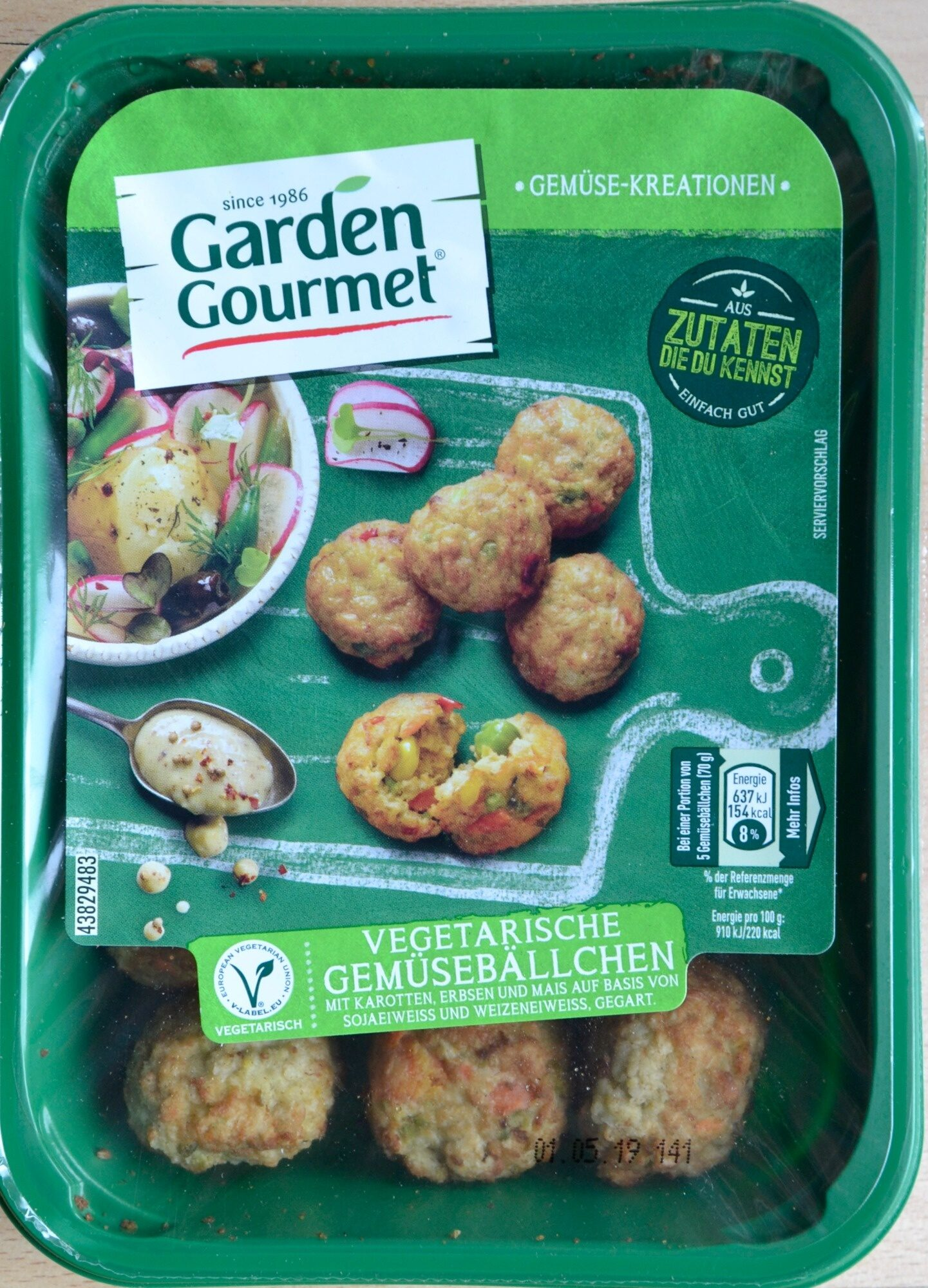 Vegetarische Gemüsebällchen - Product - de
