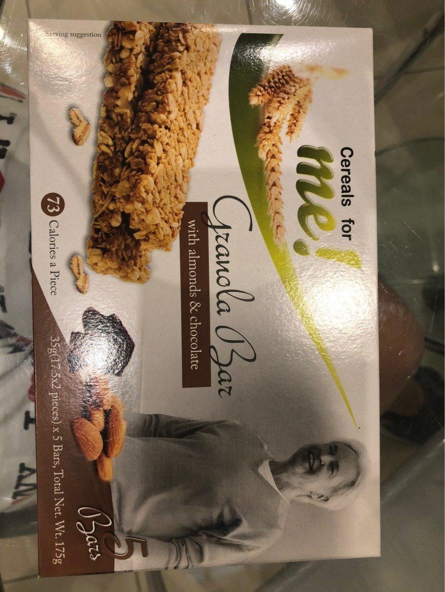 Barre De Céréales Chocolat Et Amandes - Produit