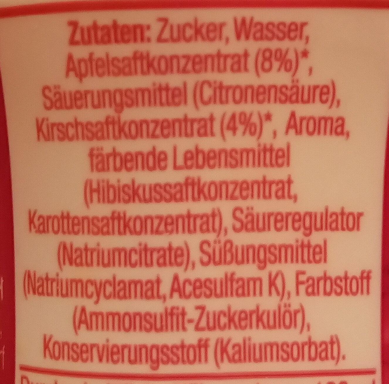 SodaStream Kirsch-Geschmack - Ingredients - de