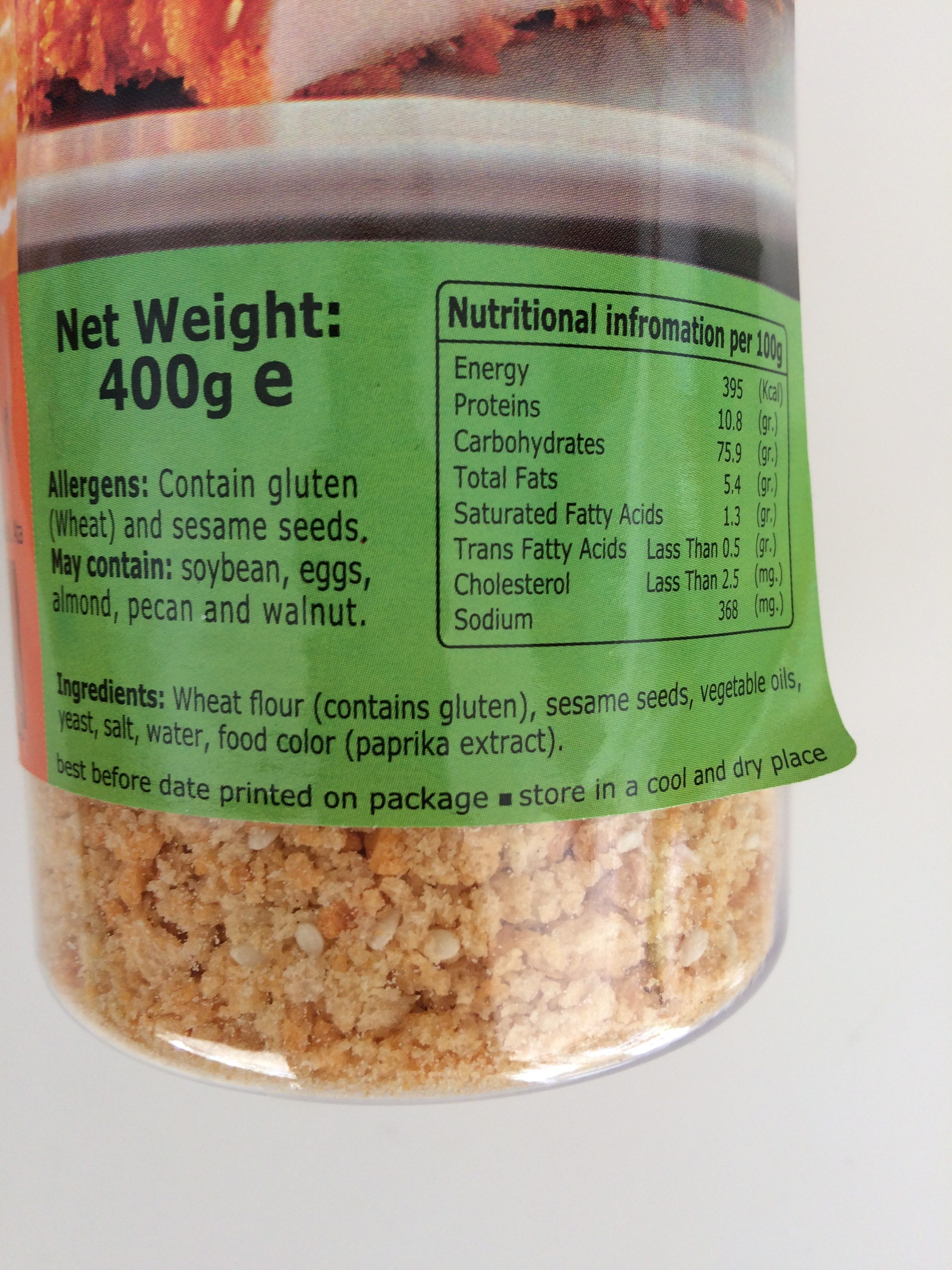 Golden bread crumbs - Ingrédients - fr