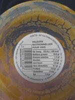 Houmous Abu-Gosh Sauce Piquante - Informations nutritionnelles - fr