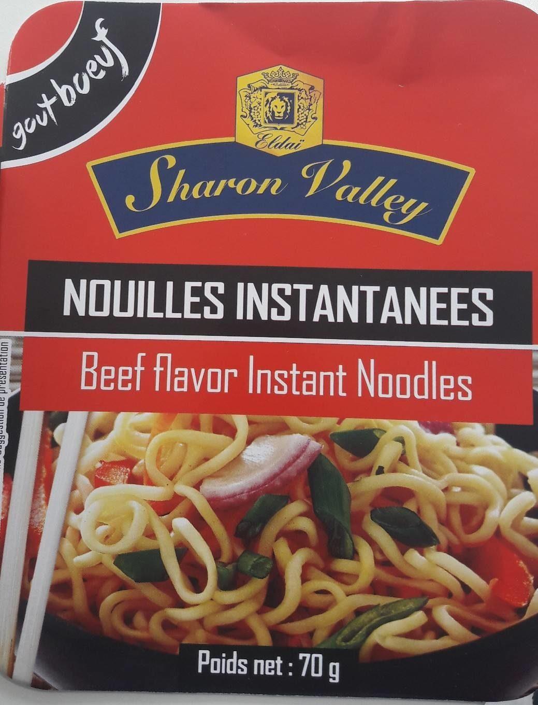Beef flavor instant noodles - Produit