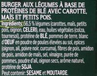 Burger aux légumes - Ingrédients - fr