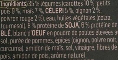 Boulettes aux Légumes - Ingredients - fr
