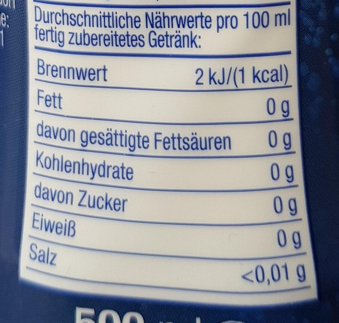 Cola Sugar Free - Informations nutritionnelles - fr