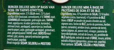 Burger Deluxe mini - Ingrédients