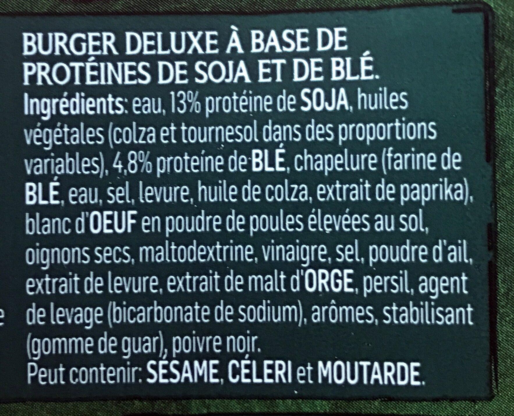 Burger deluxe mini (végétarien) - Ingredients - fr