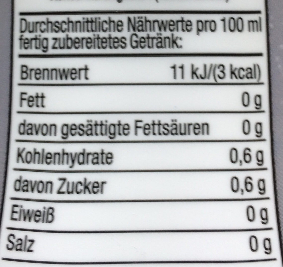 Cola+Orange-Geschmack - Informations nutritionnelles - de