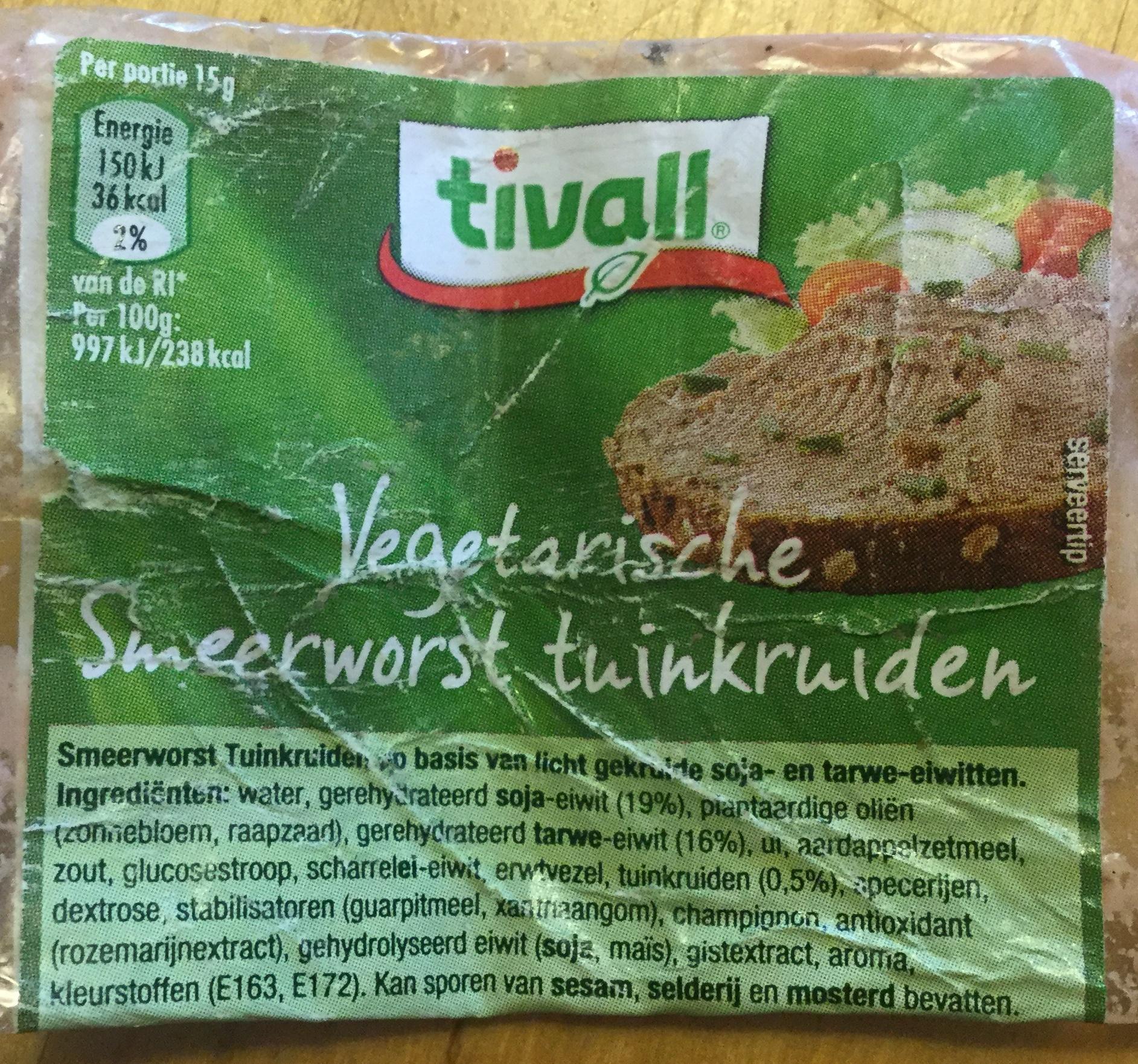 Vegetarische smeerworst tuinkruiden - Product - nl