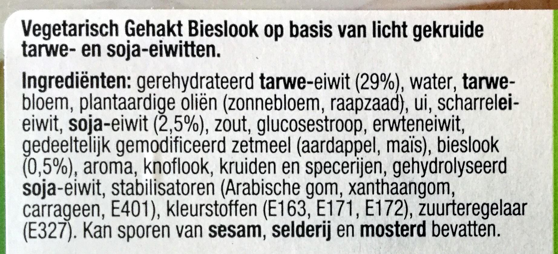 Vegetarisch gehakt bieslook - Ingredients - nl