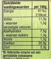 Vegetarisch gehakt bieslook - Nutrition facts - nl