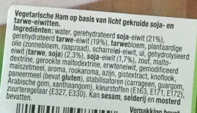 Vegetarische Ham - Ingrediënten - nl