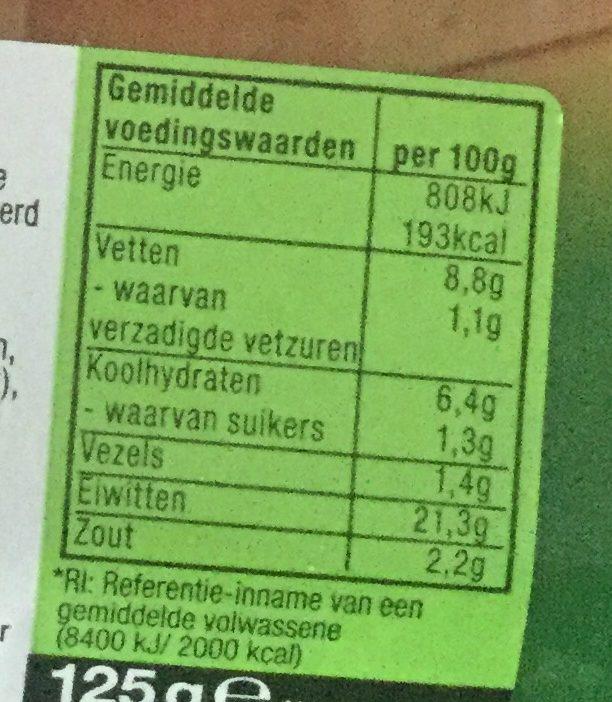 Vegetarische Ham - Voedingswaarden - nl