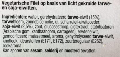 Tivall vegetarisches Filet - Ingredients - fr