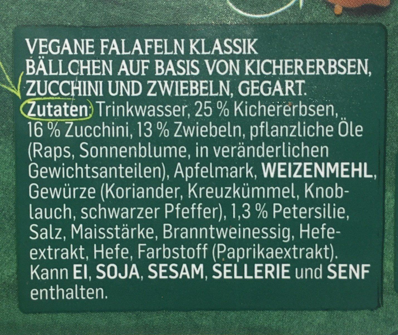 Falafel - Garden Gourmet - 190 G - Ingrédients - fr
