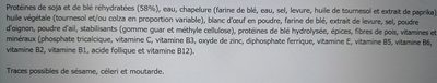 Tivall Vegetarian 4 Schnitzels - Ingrédients - fr