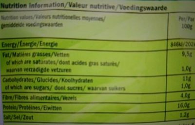 Tivall Vegetarian 4 Schnitzels - Informations nutritionnelles - fr