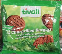 Tivall Vegetarian 4 Chargrilled Burgers - Produit - fr