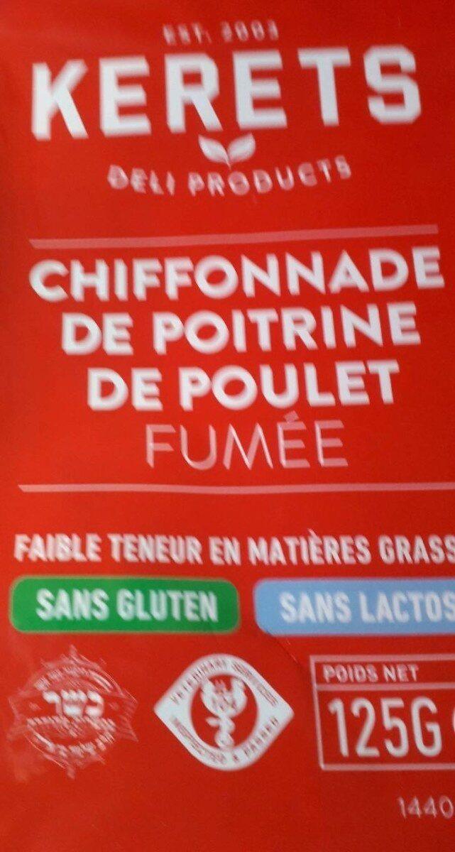 Chiffonade de poitrine de poulet fumée - Produit - fr
