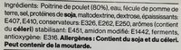 Chiffonade de poitrine de poulet fumée - Ingrédients - fr