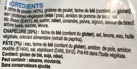 Frites de poulet - Ingrédients - fr