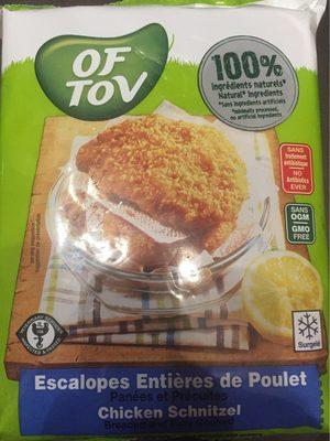 Escalopes entiere de poulet panees et precuites - Product