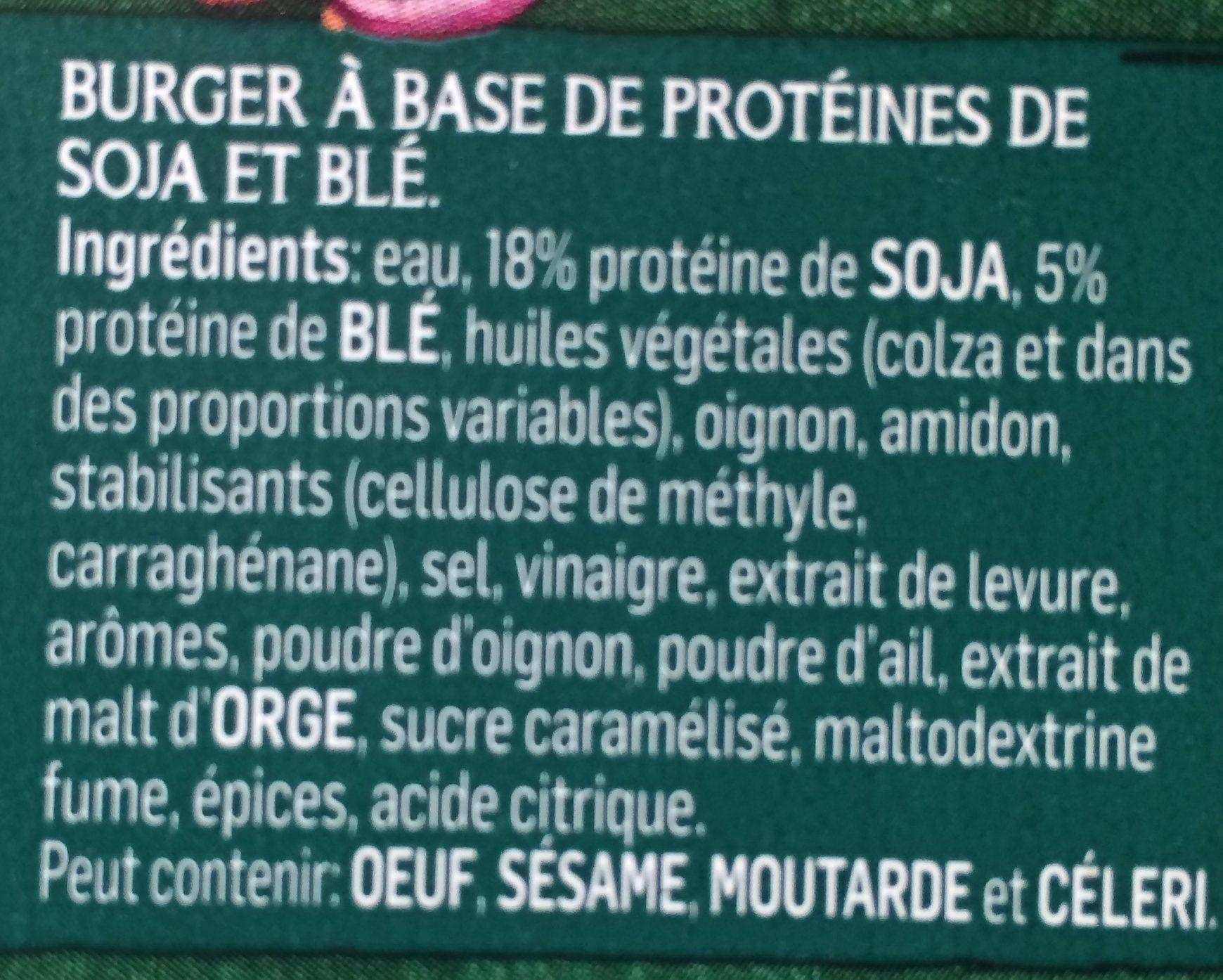 Burger - Ingrediënten