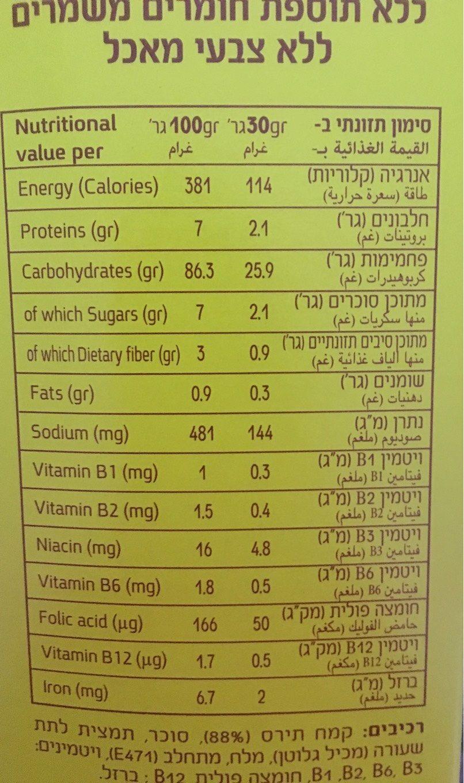 חלמה - Voedingswaarden - en