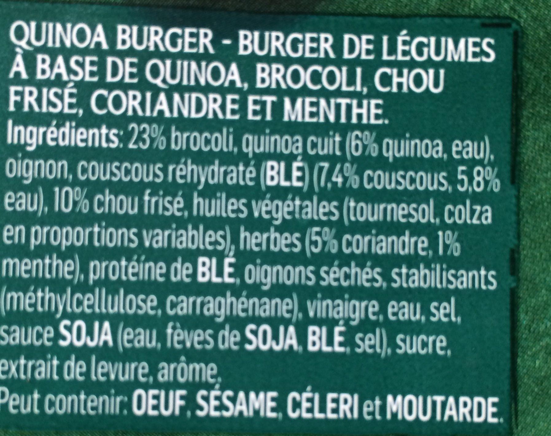 Quinoa Chou Frisé Et Brocoli - Ingrédients - fr