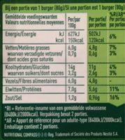 Quinoa Chou Frisé Et Brocoli - Informations nutritionnelles - fr