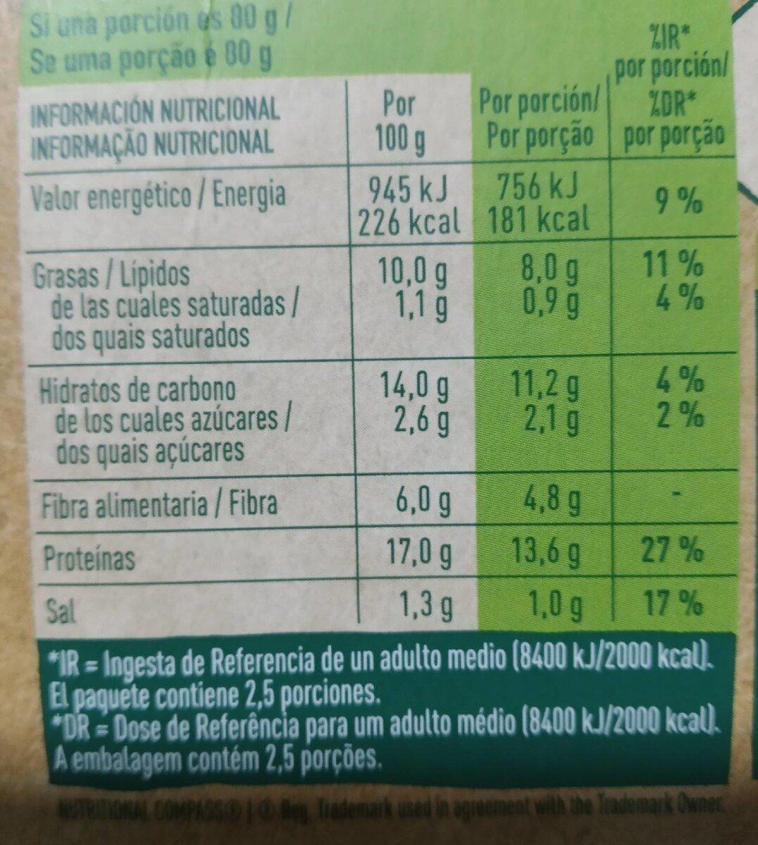 Nuggets Garden Gourmet - Informations nutritionnelles - es