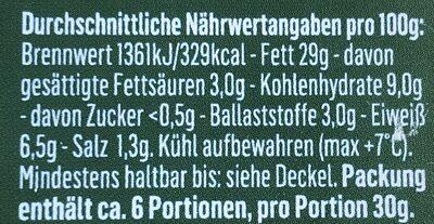 Hummus Classic - Informations nutritionnelles