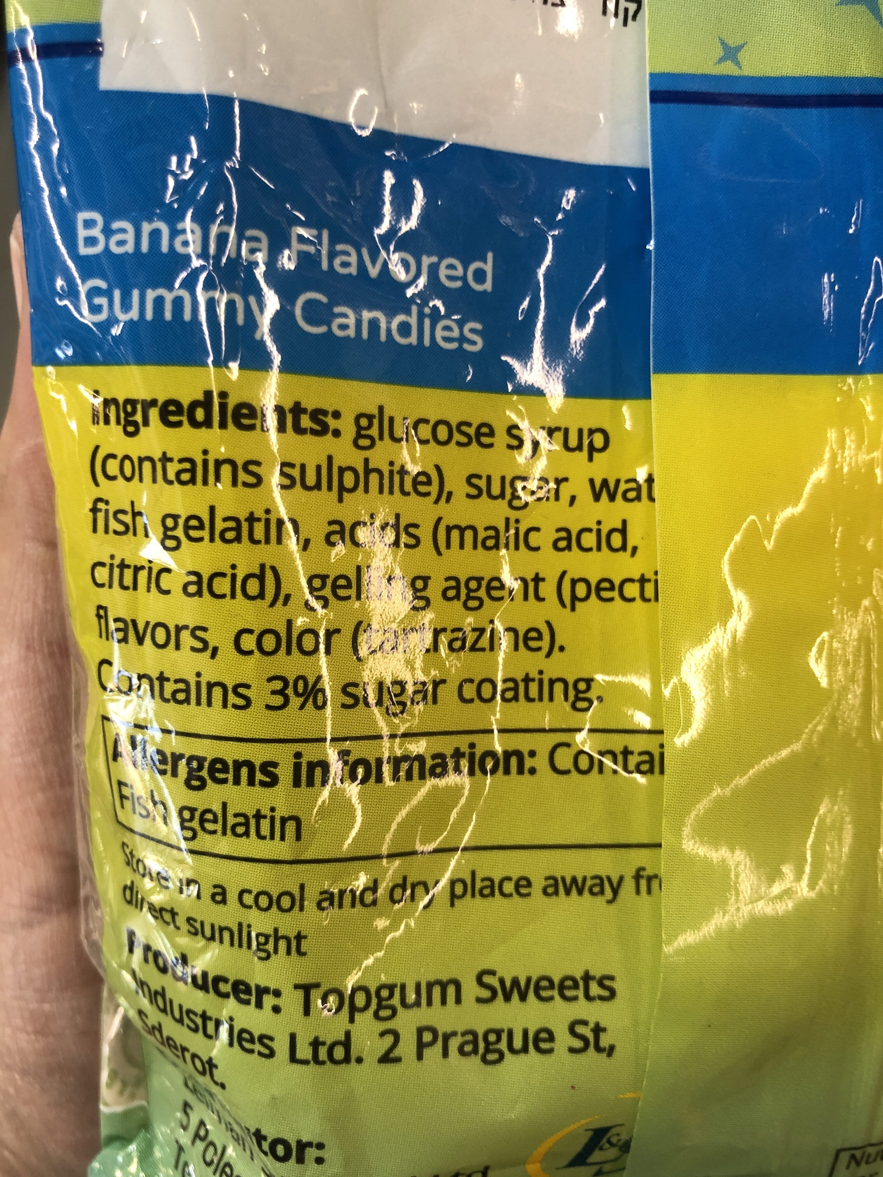Banana Flavored Gummy Candies - Ingredients - en