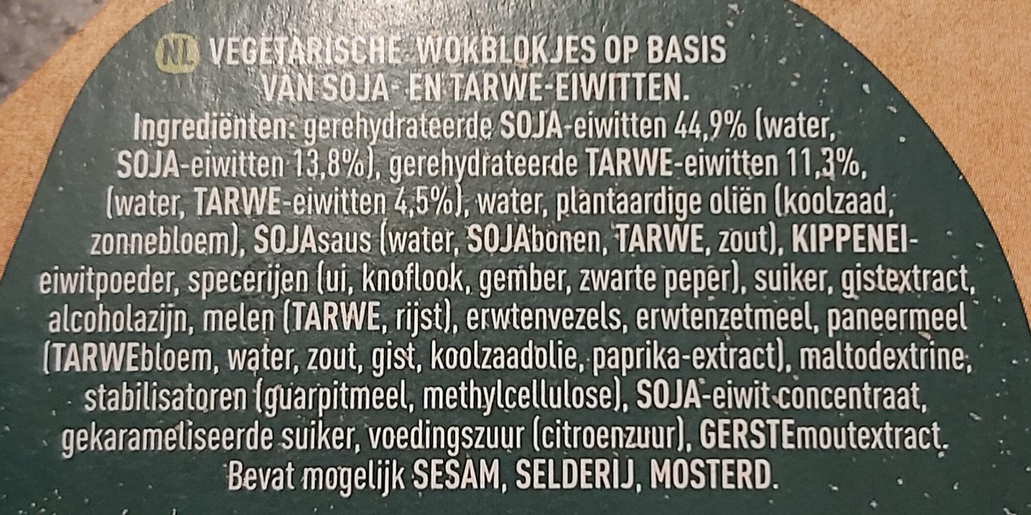 Oosterse wokblokjes - Ingredients - nl