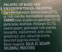 Falafel pikant - Ingredients - en