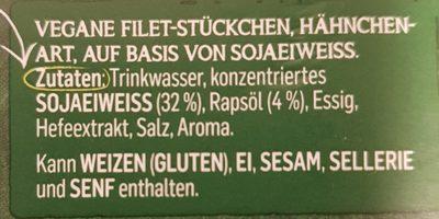 Vegane Filet-Stücken - Ingrediënten - de