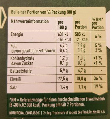 Vegane Filet-Stücken - Voedingswaarden - de
