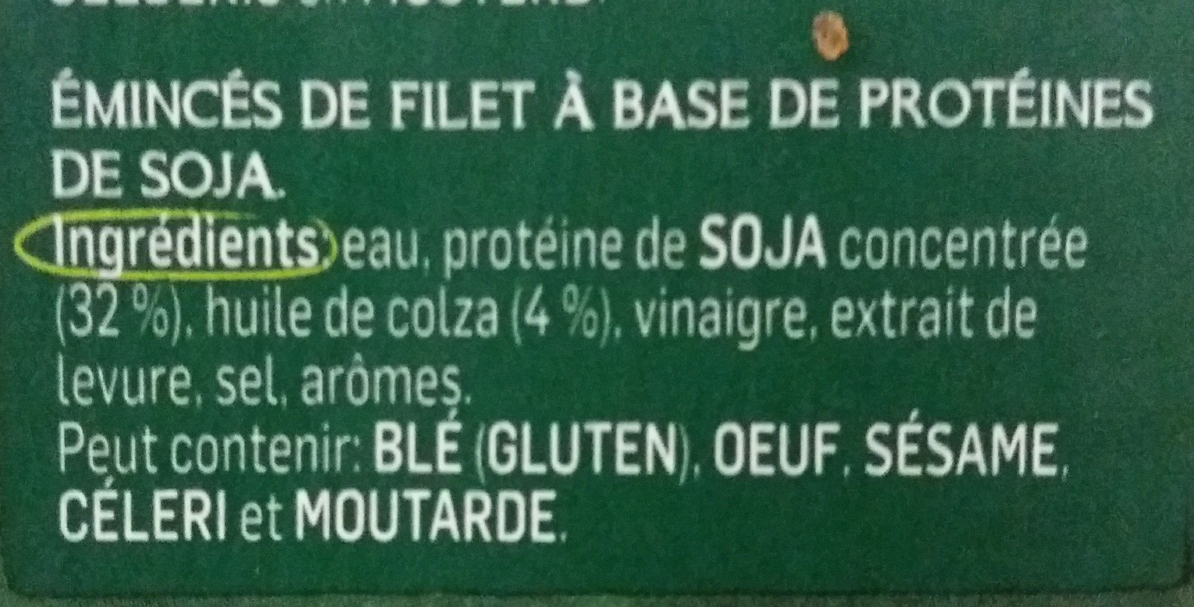 Émincés de filet chicken style - Ingrediënten - fr