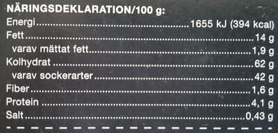 Kladdkaka - Informations nutritionnelles - sv