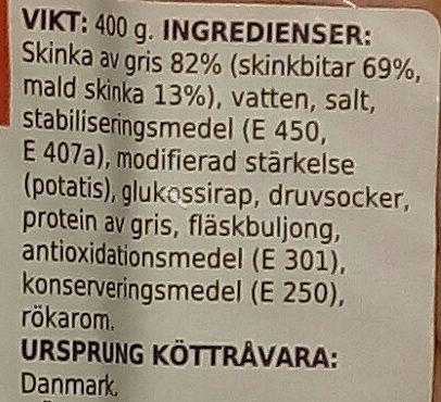 Coop X-tra Rökt skinka - Ingredients
