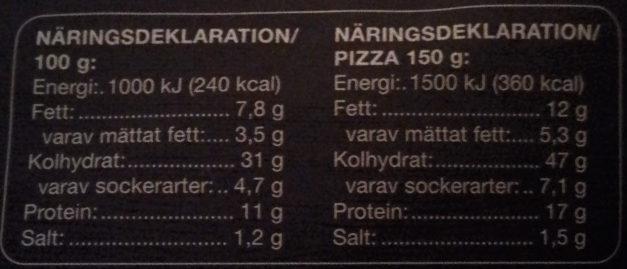 Coop Pan Pizza Ost & Skinka - Informations nutritionnelles - sv