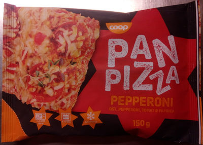 Coop Pan Pizza Pepperoni - Product