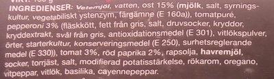 Coop Pan Pizza Pepperoni - Ingrédients - sv