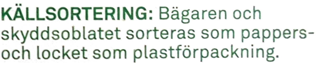 Smör & Raps Normalsaltat - Recycling instructions and/or packaging information - sv