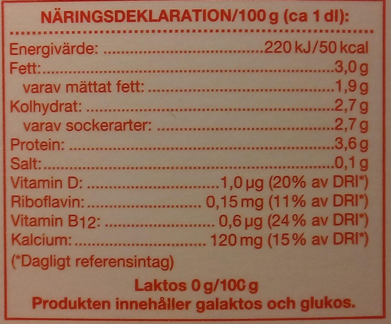Coop Laktosfri mjölkdryck - Nutrition facts
