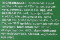 Coop Dagens pasta med Ricotta & Spenat - Ingrédients - sv