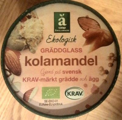 Coop Änglamark Ekologisk Gräddglass Kolamandel - Produit