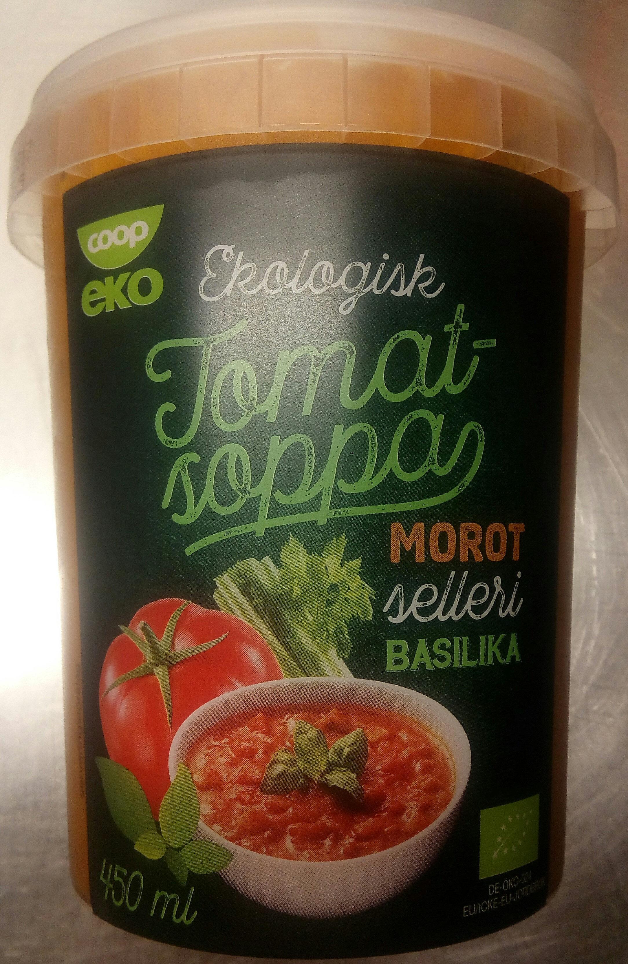 Coop eko Ekologisk Tomatsoppa Morot, selleri, basilika - Produit - sv