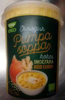 Coop eko Ekologisk Pumpa soppa Kokos, ingefära, röd curry - Produit