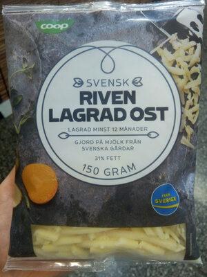 Svensk riven lagrad ost - Product